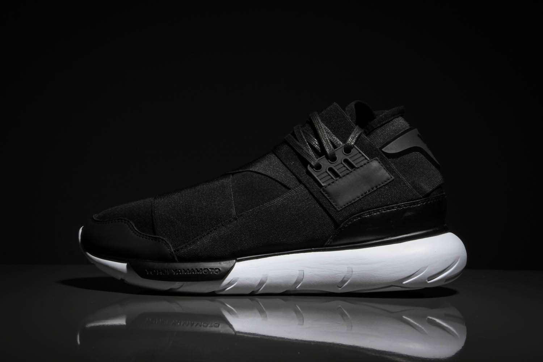 adidas y 3 qasa high 39 black white 39 crisp culture. Black Bedroom Furniture Sets. Home Design Ideas